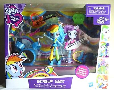 Equestria Girls Minis RAINBOW DASH ROCKIN Music My Little Pony poseable figure