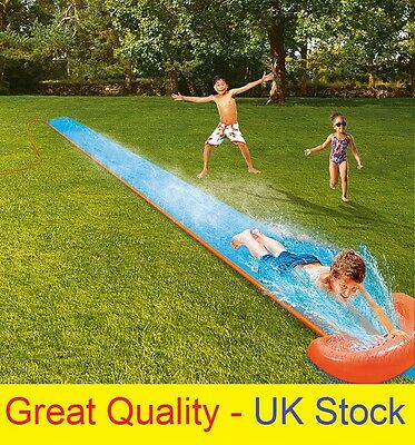 NEW BESTWAY 5.5m H2O GO WATER SLIP AND SLIDE INFLATABLE GARDEN GAME FUN 18 FEET