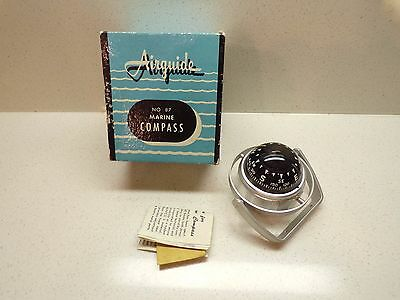 Vintage New In Box Airguide 87 Marine Compass Gimbal & Paperwork 196