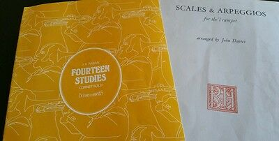 Arban studies 1-14 and scale book for B flat trumpet