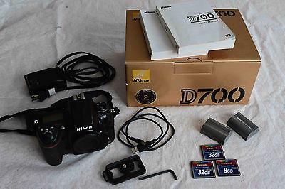 Nikon D700 Camera w/ batteries, CF cards and quick-release plat
