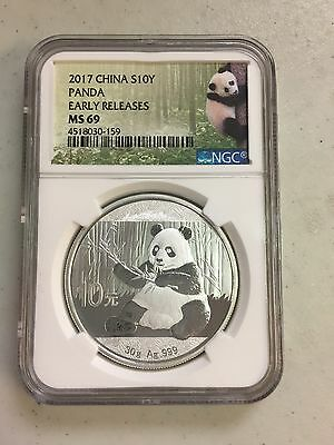 2017 China S10Y Panda Ngc Early Releases Ms 69