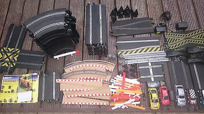 Vintage Scalextric classic track/car/spares bundle (NEWER AND OLD TRACK)