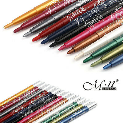 MeNow Long Lasting Eye Lip Liner Pencil Pen Fashion Colors Eyeliner 12PCS