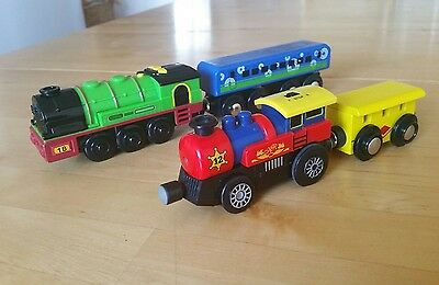 Brio thomas elc wooden track compatible train engines (battery operated)#bargain