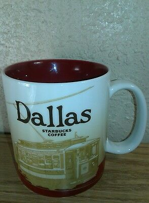 NEW STARBUCKS Global Icon Collectors Series 2009 Dallas TX COFFEE MUG  Cup 16 oz