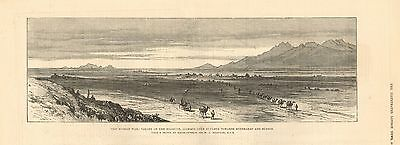 1880 Antique Print-Afghan War- Valley Of The Helmund,looking Over Sungbur