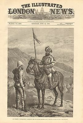 1880 ANTIQUE PRINT-OUR TROOPS IN AFGHANISTAN-SOWAR OF THE 10th BENGAL LANCERS