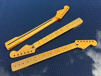 Stratocaster Maple Strat Neck, 22 fret Maple Fingerboard, Aged Nitro Satin NEW