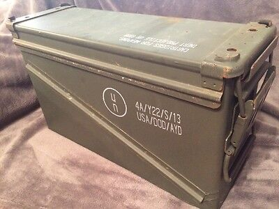 2 each Military Surplus 40mm PA-120 Large Ammo Can Box 100% Steel Excellent.