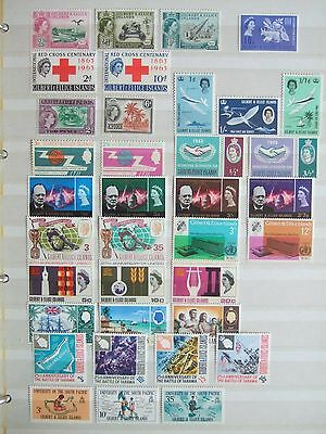 Gilbert & Ellice 1960-75 Mint Collection Of 123 Stamps 1 Ms Mainly Sets Mh Mnh