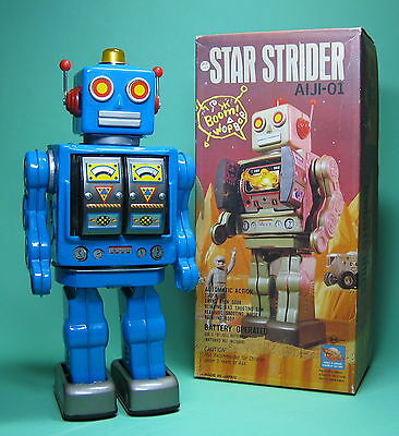 Original Star Strider Robot Blue Roboter Blau Made By Sh Horikawa Japan