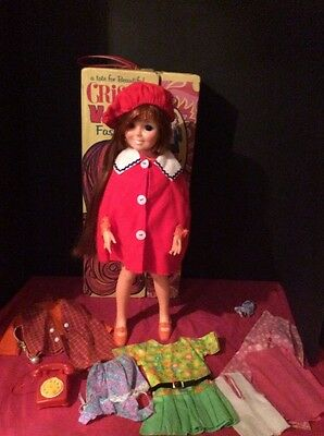 1971 Spiegel Red Poncho With Beret For Crissy Set