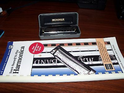 Vintage Hohner Special 20 Marine Band Harmonica Key of C + Alfred Teach Yourself