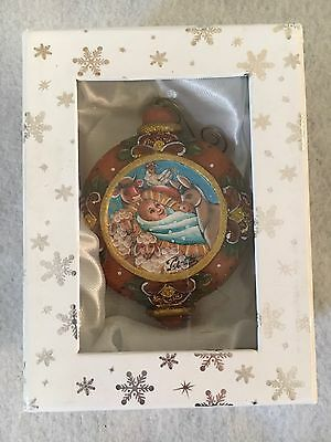 G.DeBREKHT Village Nativity Ornament Jesus w Box Hand Painted F/S