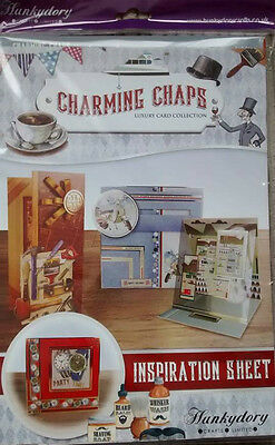 Hunkydory Charming Chaps Luxury Card Kit With Verses & Little Book - BNIB