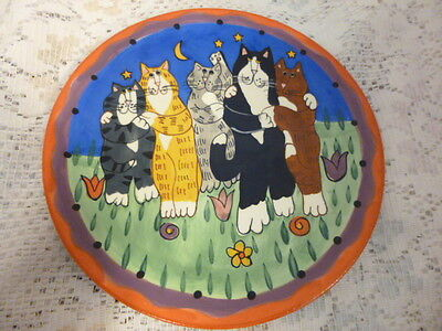 """CATZILLA, Candace Reiter Designed Kitty Huggie Plate (1) abt 8"""""""