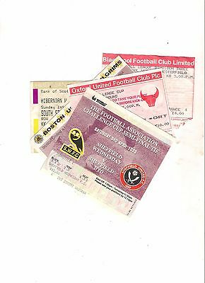 10 DIFFERENT  TICKET STUBS-----pack 3---SEE BELOW FOR MATCHES