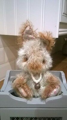 mohair bear shabby chic Artist Bear Please contact me  for delivery date