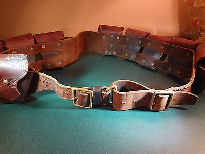WWI PO3 90 round Cavalry light horse 9 pocket bandolier