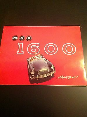 1960 Mga 1600 Original Sales Ad Stamped By A Dealer In Bethesda Maryland.