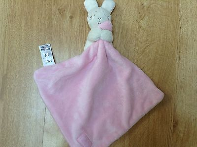 Marks and Spencer Pink With Love Rabbit Bunny Baby Comforter Soft Toy Blanket