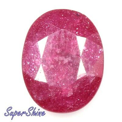6.33Cts. NATURAL GLASS FILLED BLOOD RED RUBY OVAL CUT PRECIOUS GEMSTONE CZ2368