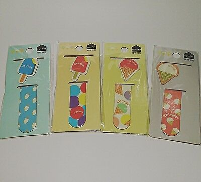1 x Cute Ice Cream Magnetic Bookmark - Planner/Diary/School/Reading