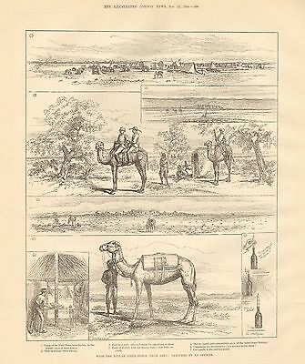 1884 Antique Print-With The Zeylah Field Force, From Aden