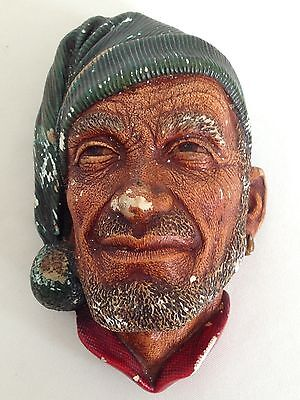 "Vintage Bossons Wall Plaque Figure Heads ""Corsican"" 1959"