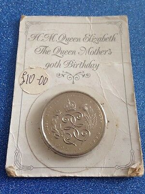 1990 £5 Coin Queen Mothers 90th Birthday