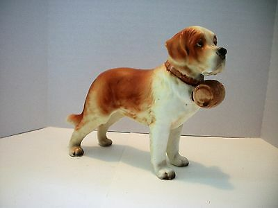 "Vintage Lefton China SAINT BERNARD Dog Figurine H3679 Japan 5 1/4"" Tall"