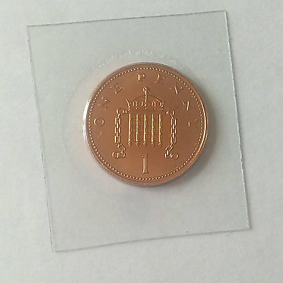 One Pence 1p Coin 1987 British UK Uncirculated