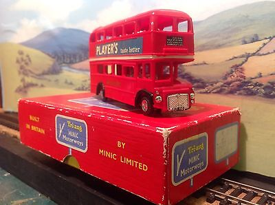 Triang Minic Motorways M1545 Double Decker bus. Boxed