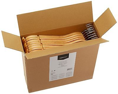 Vintage Wooden Suit Hangers16 Pack Wood Wall Mens Amazonbasics Set Solid Coat