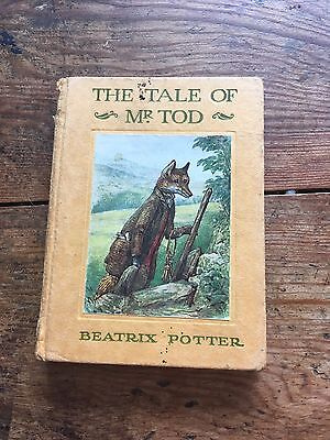 Vintage Old Early The Tale Of Mr Tod Beatrix Potter Book