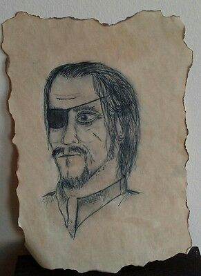 Pirate picture unsigned artificially aged/antiqued - Fantasy/myth/Pirates