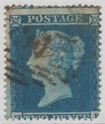 GB QV 2d Pale Blue SG20 Plate 4 Two Pence 1854 Used Stamp