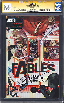 FABLES #6 (RRP Variant) CGC 9.6 SS / Signed by Bill Willingham! Super Rare!