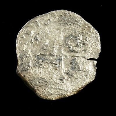 Spain Spanish? Colonial Silver Shipwreck Effect Coin~ 37mm
