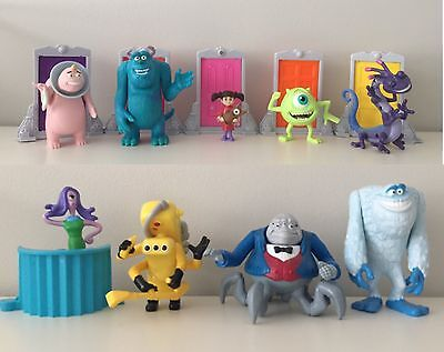 Monsters Inc 2001 Happy Meal Toys (set of 9)