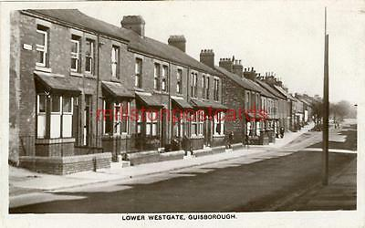 Real Photographic Postcard Of Lower Westgate, Guisborough, North Yorkshire