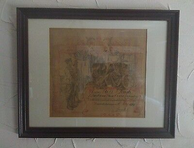 Ww1 Honourable Discharge Certificate Machine Gun Corps Infantry In Frame