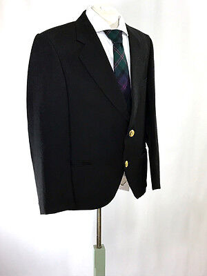 Bagpipers Argyll/ Day Jacket Black by Edgar of Scotland 100% Wool