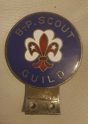 Rare Early Baden Powell Scout Guild Enamel Car Mascot Badge