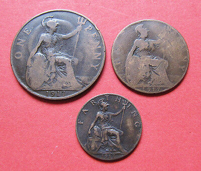 A nice 1917 George V mini coin set - 100 years old