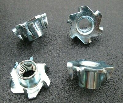 "3/8""-16 Tee Nuts 6-Prong  Low Carbon Steel Round Base"