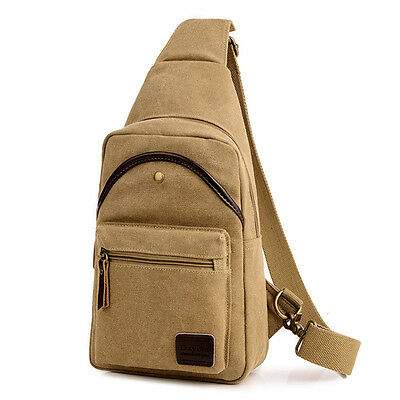 Men Canvas Sport Chest Bag Casual Crossbody Bag For Traveling