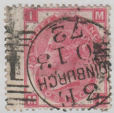 "GB QV 3d Rose SG103 Plate 9 Three Pence ""MI"" Used Wing Margin Stamp - Edinburgh"