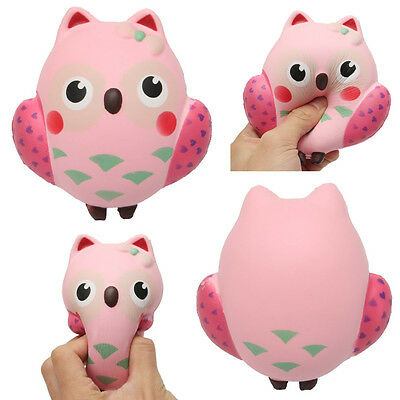 Squishy Owl Slow Rebound Toy Squeeze Slow Rising Soft Animal Pet Collection Gift